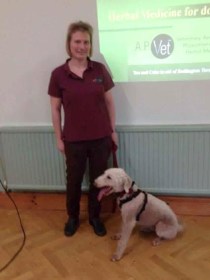 Dr Iris Ege with Ralph the Bedlington Terrier